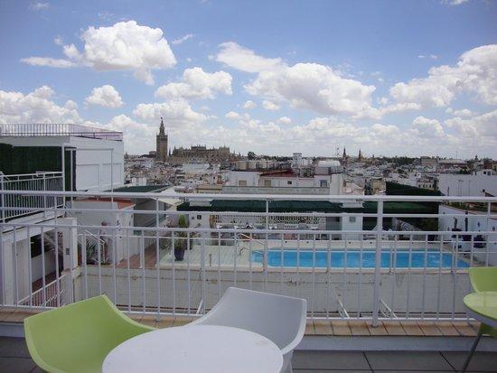 Hotel Becquer : Terrasse