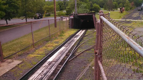 Lackawanna Coal Mine Tour: Mine shaft entrance