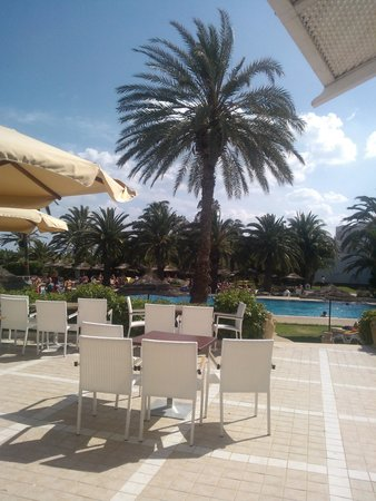 Palm Beach Club Hammamet: view from the pool bar