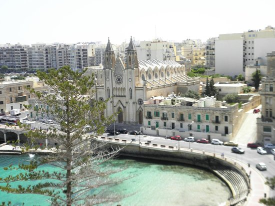 Le Meridien St. Julians : view from our room