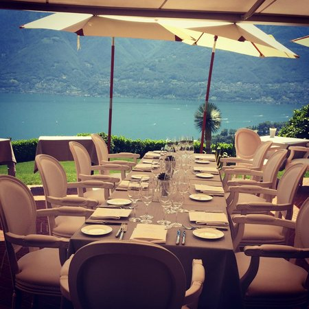 Il Ristorante Villa Orselina : Wonderful view from our table (second visit, with friends this time)