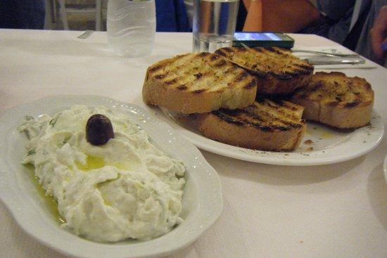 Marianna: Tzatziki and tasty bread!