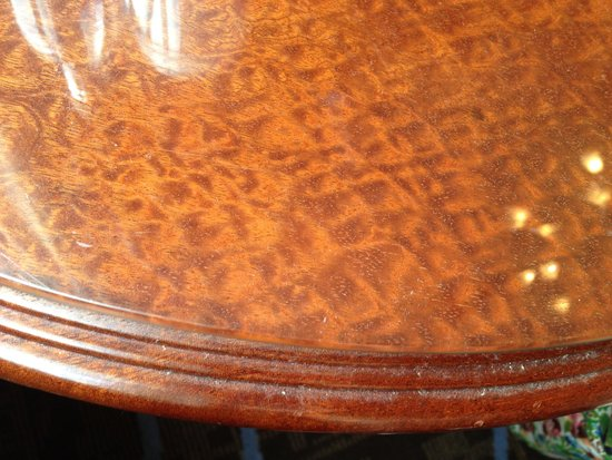 The Waldorf Hilton London: Dirt engrained table
