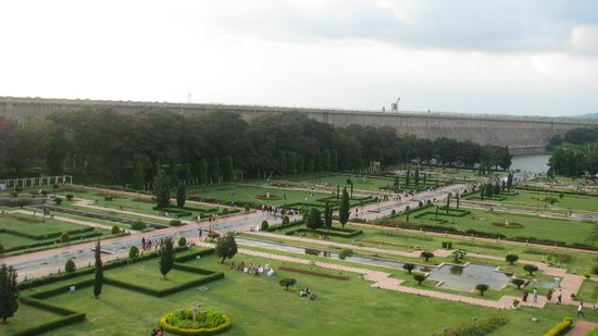 Royal Orchid Brindavan Gardens: view from balcony