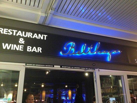 Belthazar Restaurant and Wine Bar: Ingresso
