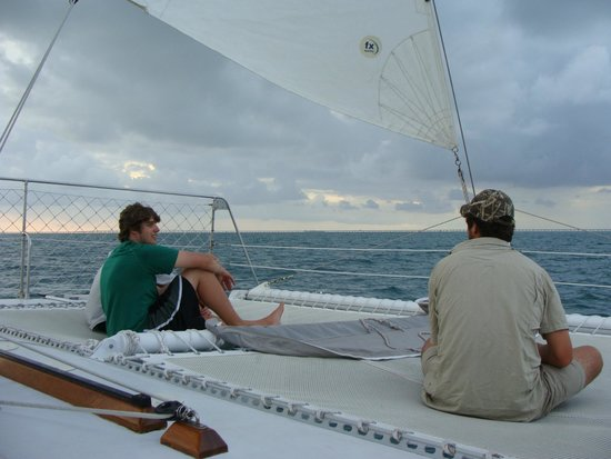 Sailing Catamaran Sirius: Relax on the netting