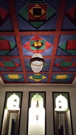 Riad Tamarrakecht : Ceiling (Green room 1st fl)