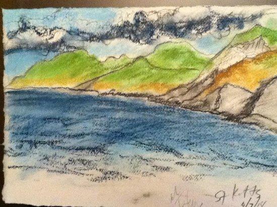 St. Kitts Marriott Resort & The Royal Beach Casino: Sketch of the beach view