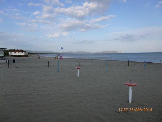 Spiaggia della Feniglia: ..quasi al tramonto..