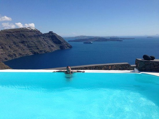 Aenaon Villas: Infinity Pool with Sea view, to die for