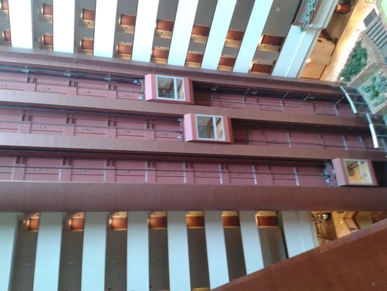 Renaissance Dallas Richardson Hotel : Vista del pozo de aire central con ascensores