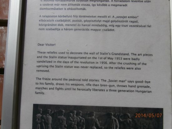 Memento Park: Visitor sign