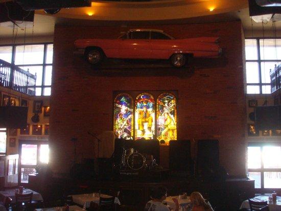Hard Rock Cafe : Decoração interna do palco