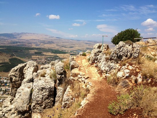 Arbel National Park : Towards the end of the hike path