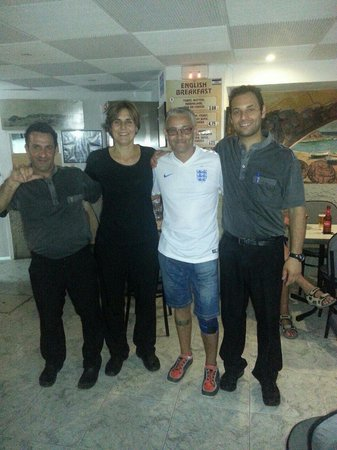 Bar Panos : With the staff at Bar Pano. 07/06/14
