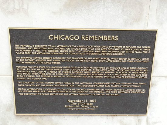 Vietnam Veterans Fountain: Chicago Remembers