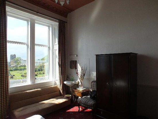 Corran House: The Sofa and the windows.