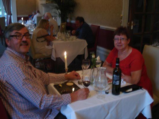 Monk Fryston Hall Hotel : Having a wonderful meal and wine