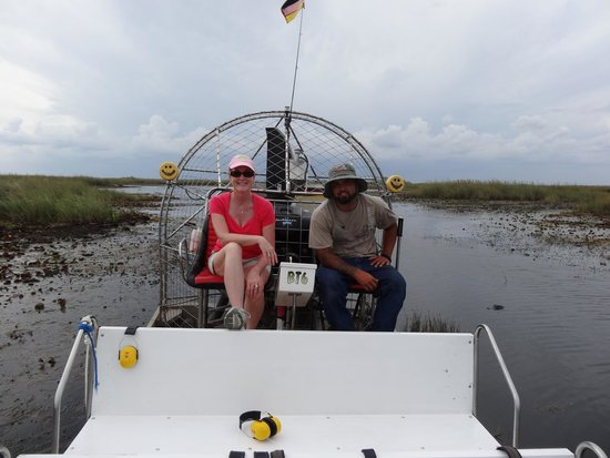 Buffalo Tiger's Airboat Tours: The airboat & it's captain