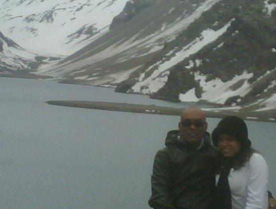 Ski Portillo : Esta lagoa fica totalmente congelado no inverno.