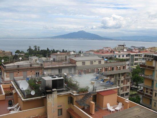 Hotel Villa Maria : View of Mount Versuvius form roof top