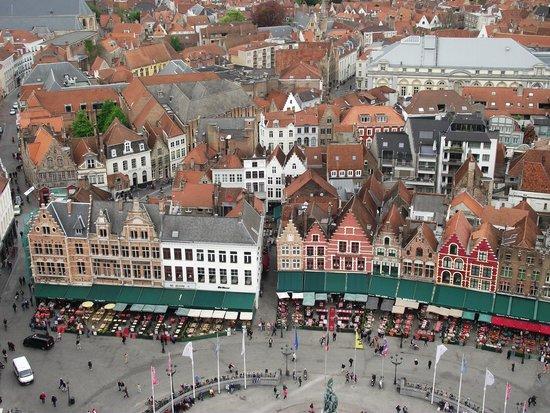 Belfort: Marktplein (Praça do Mercado) vista da torre.