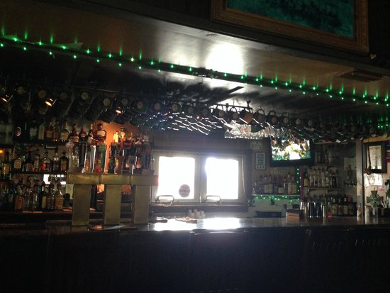 McSharry's Irish Pub: The bar. There is window service to the tables outside.