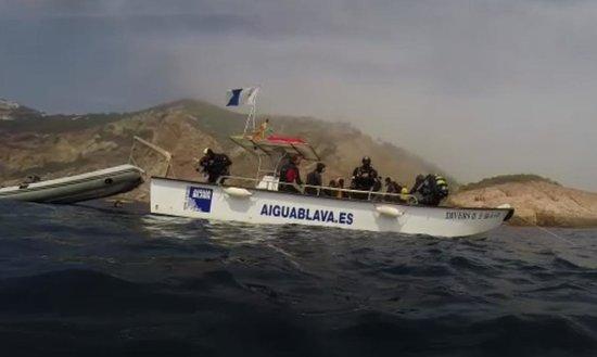 Aiguablava dive center: de Boot van GymSub - Aiguablava