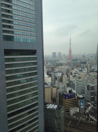 Royal Park Hotel The Shiodome, Tokyo: View from Harmony Restaurant - Tokyo Tower