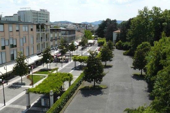 Hotel Terme Villa Pace: Panoramica zona pedonale dal 3° Piano