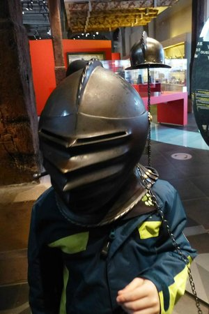 History Museum : Photo Op - Knights Helmets