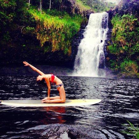 The Inn at Kulaniapia Falls: SUP yoga