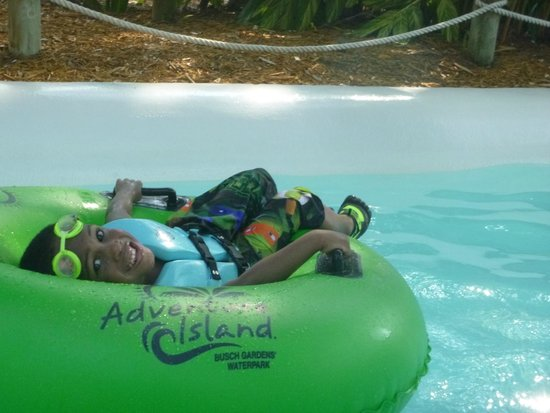 Adventure Island: Youngest son in the lazy pool