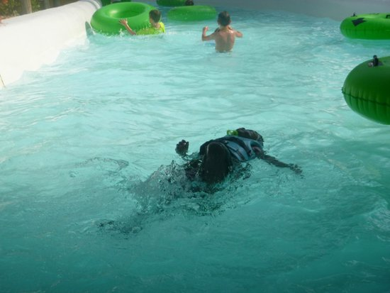 Adventure Island: My baby son having a good time