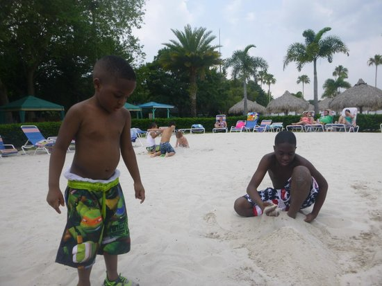 Adventure Island : Kids playing in the sand