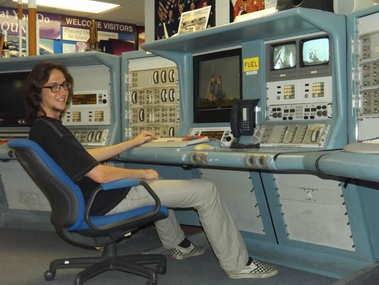 US Space Walk of Fame Foundation & Museum: Hands on Shuttle consoles