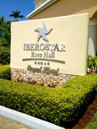 Iberostar Grand Hotel Rose Hall: Sign