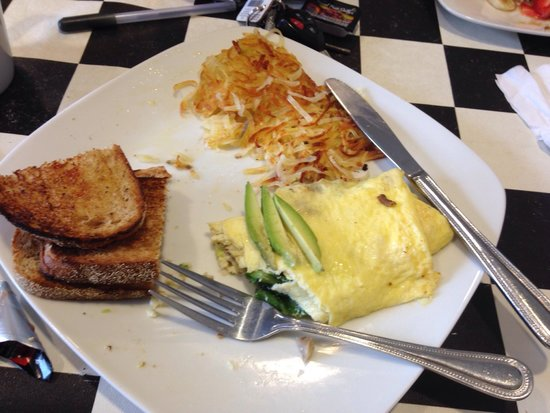 Big Apple Cafe: Garden omelette. Does look fancy but is really great!