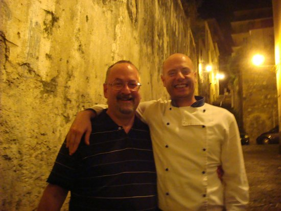 Ristorante Cicirinella: Me with Ettore - chef and co-owner of Cicirinella