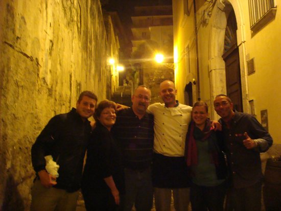 Ristorante Cicirinella: My family with Luca (Salerno in Alto Mare - far left), Ettore and Gigi on our last night