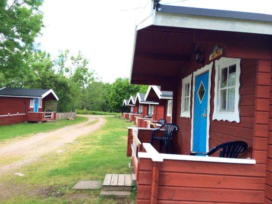 "Lilla Sverigebyn: The ""rooms"" or little cottages/cabins"