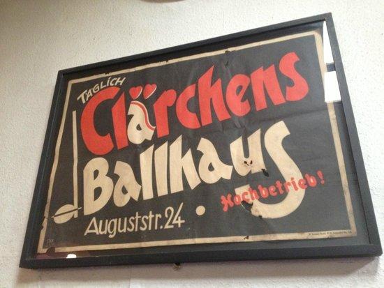 Clarchens Ballhaus Mitte: locandina