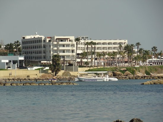 Alexander The Great Beach Hotel: hotel from Paphos Harbour