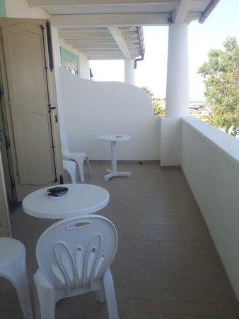 Hotel Ossidiana Stromboli : L'ampio balcone