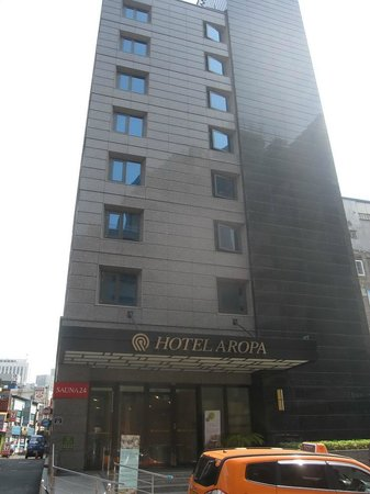 Hotel Aropa : From the street