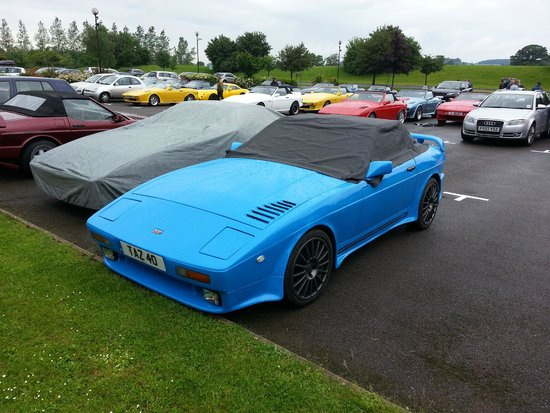 Ettington Chase Hotel: The event hosted at the hotels car park.