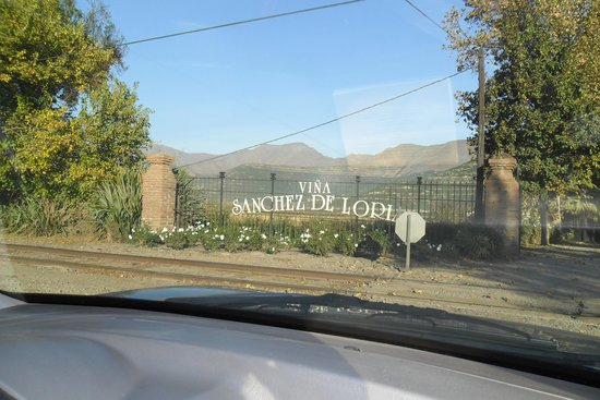 Vina Sanchez de Loria : Entry to the vineyard and winery, established in 1890.