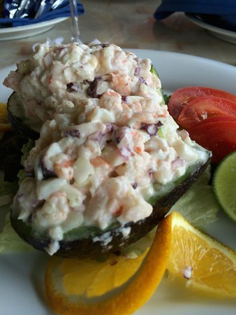 Las Casitas: Stuffed avocado