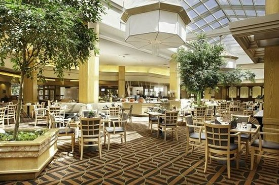 DoubleTree by Hilton Hotel Colorado Springs: Beautiful open atrium with lots of natural lighting at the DoubleTree Colorado Springs.