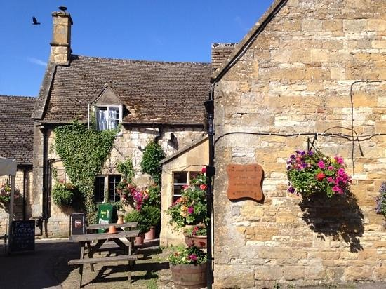 The Plough Inn at Ford: outside of pub